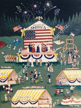 Primitive Americana Folk Art